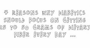 image of 4 reasons diabetics need fiber