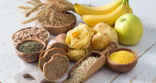 selection of simple and complex carbs