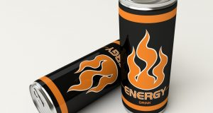 2 energy drink cans