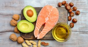 healthy fats - avocado, salmon, nuts