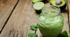 jar of avocado cilantro sauce