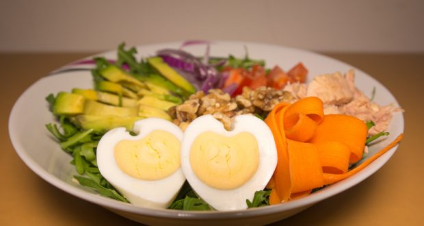 bowl of heart healthy foods