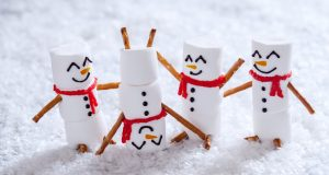 playful marshmallow snowmen with no holiday stress