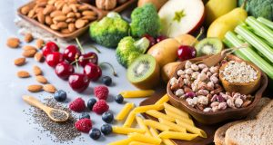 Selection of foods high in fiber