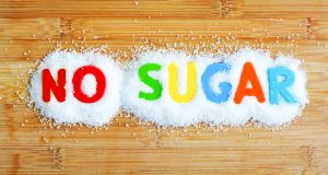 No sugar spelled in magnetic letters